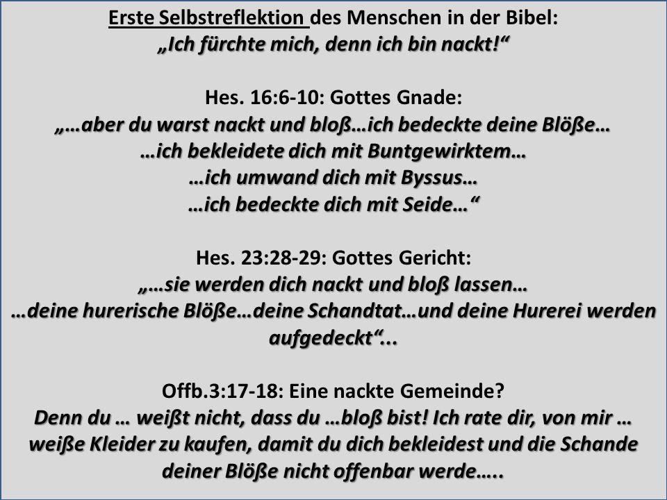 Erste Selbstreflektion des Menschen in der Bibel: