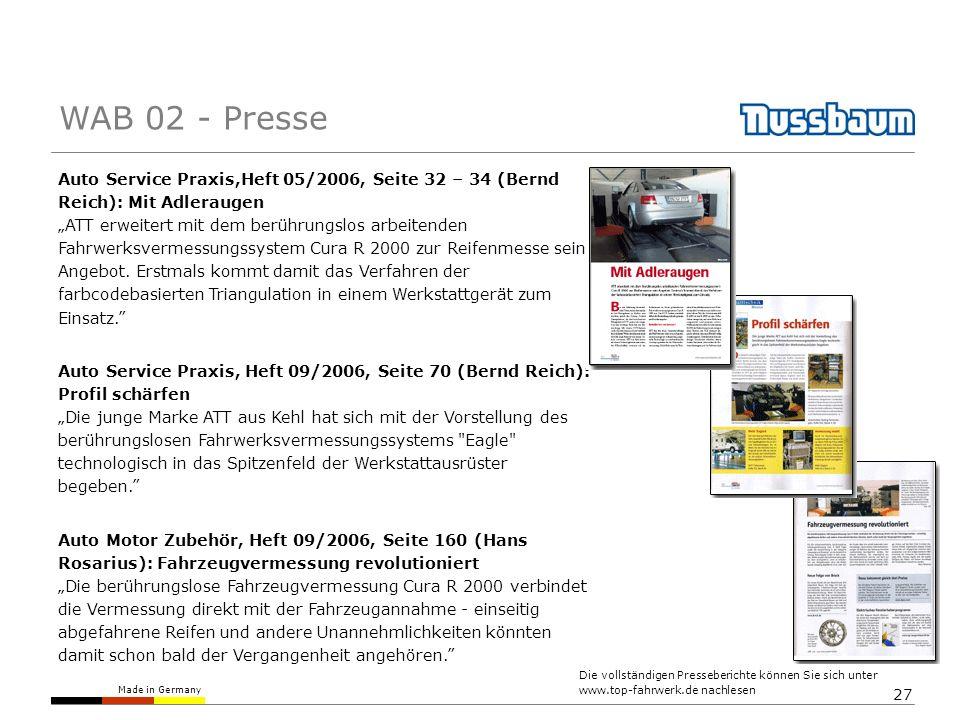 WAB 02 - Presse