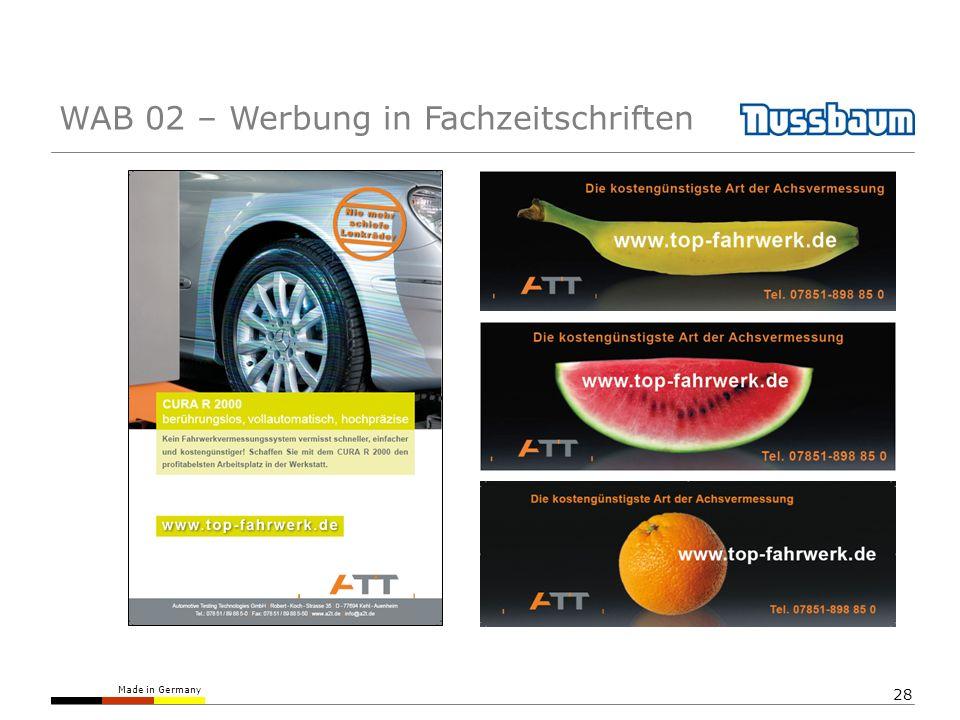 WAB 02 – Werbung in Fachzeitschriften