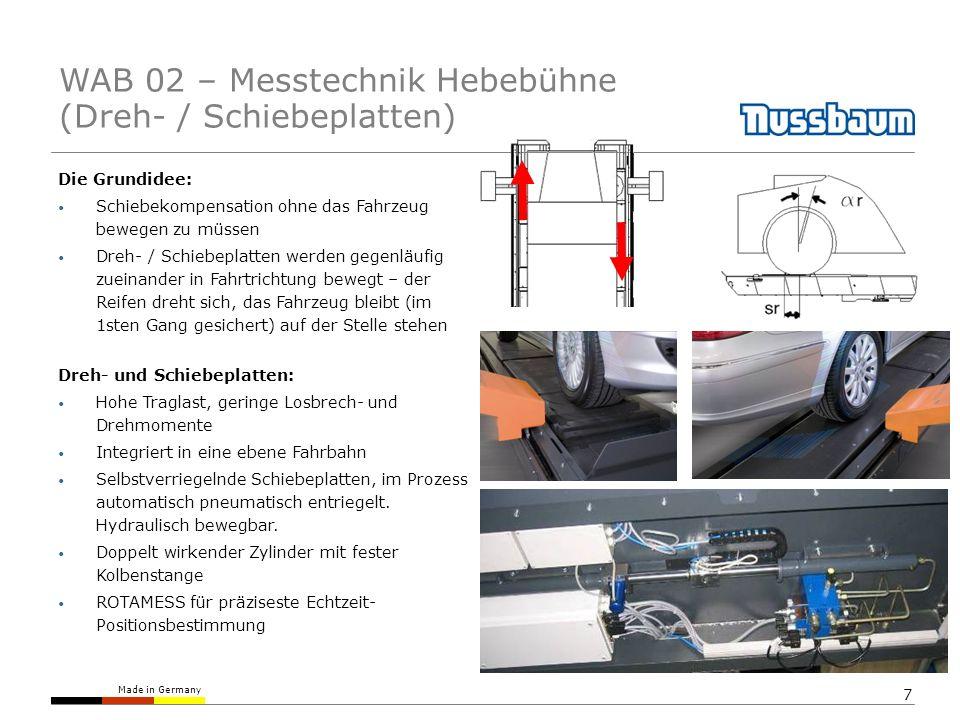 WAB 02 – Messtechnik Hebebühne (Dreh- / Schiebeplatten)
