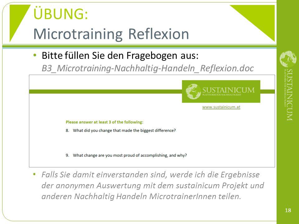 Microtraining Reflexion