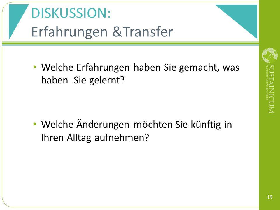 Erfahrungen &Transfer