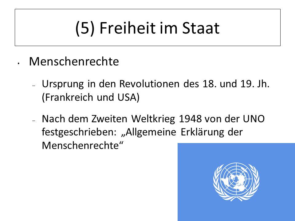(5) Freiheit im Staat Menschenrechte