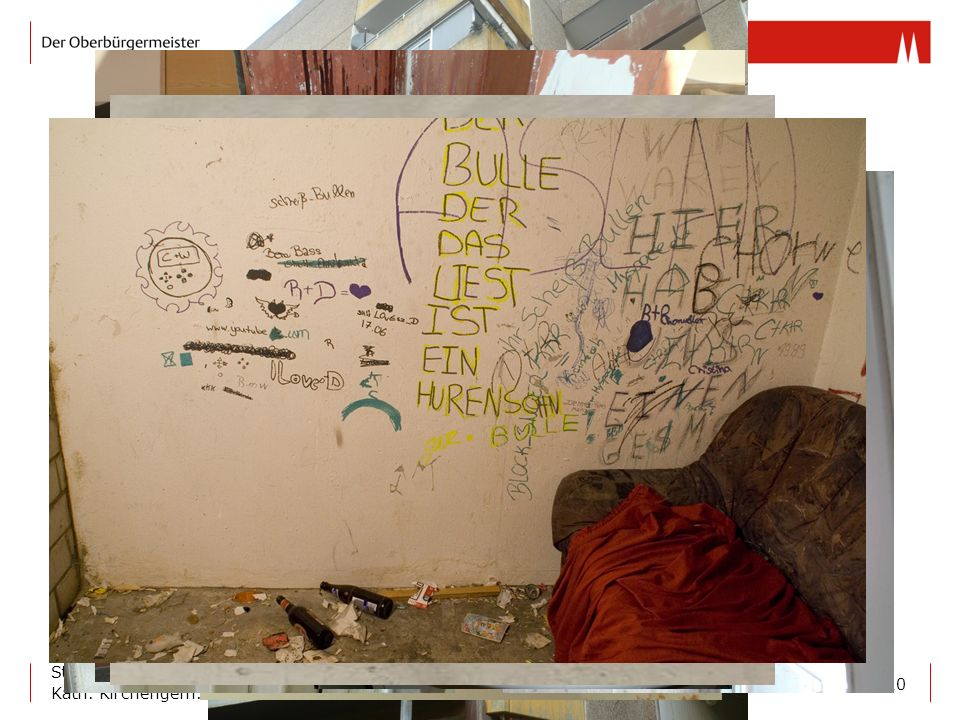 Einige Bilder zur Situation in den Häusern.