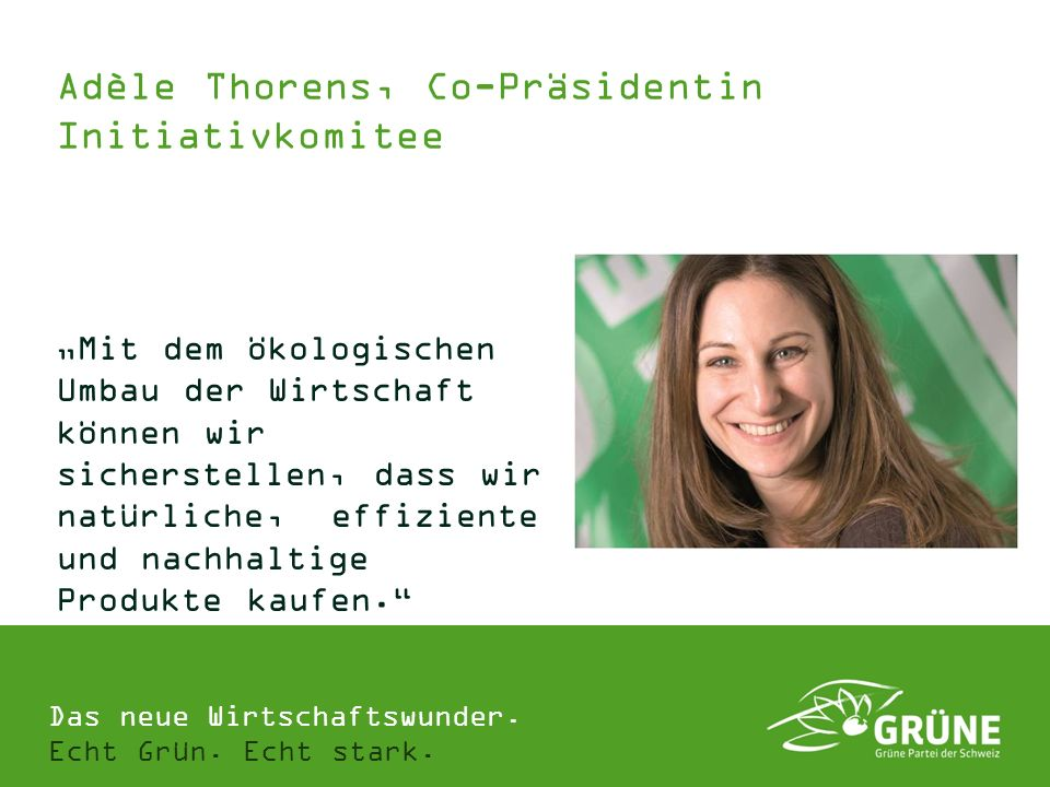 Adèle Thorens, Co-Präsidentin Initiativkomitee