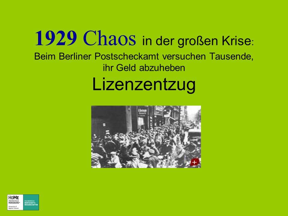 1929 Chaos in der großen Krise: Beim Berliner Postscheckamt versuchen Tausende, ihr Geld abzuheben Lizenzentzug