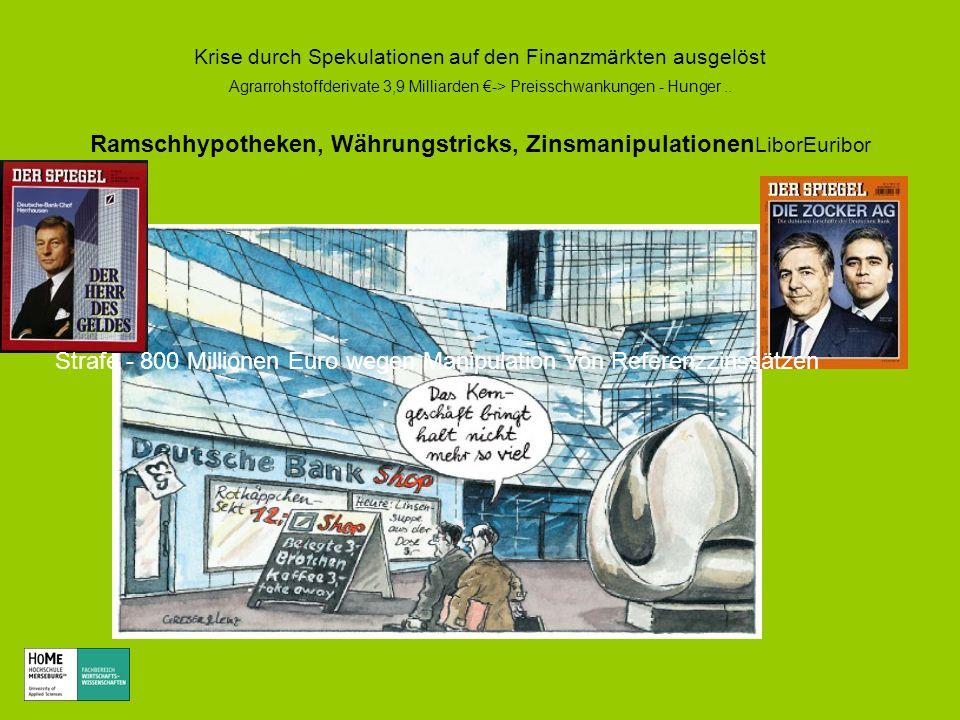 Strafe - 800 Millionen Euro wegen Manipulation von Referenzzinssätzen