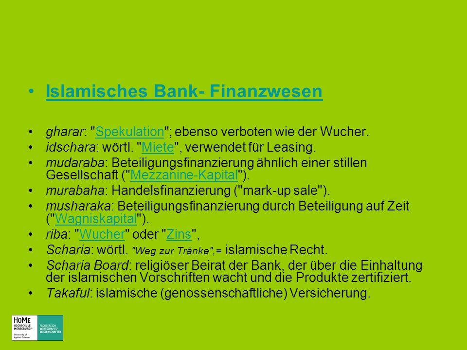Islamisches Bank- Finanzwesen