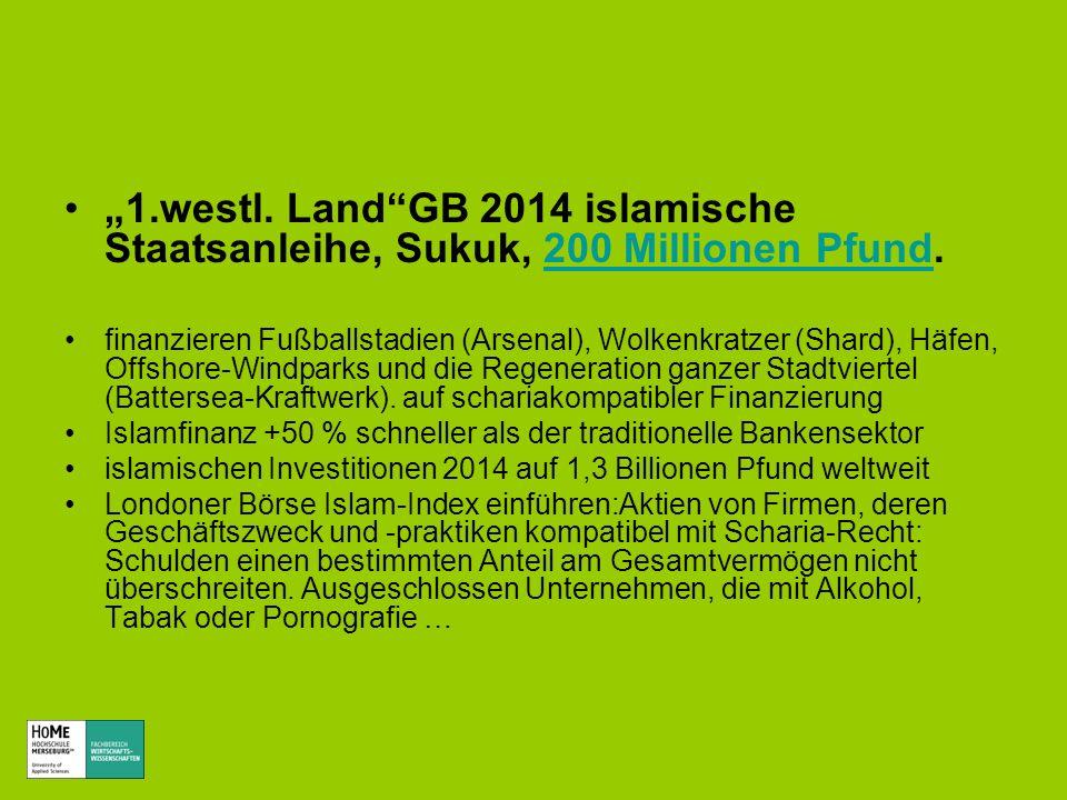 """""""1.westl. Land GB 2014 islamische Staatsanleihe, Sukuk, 200 Millionen Pfund."""