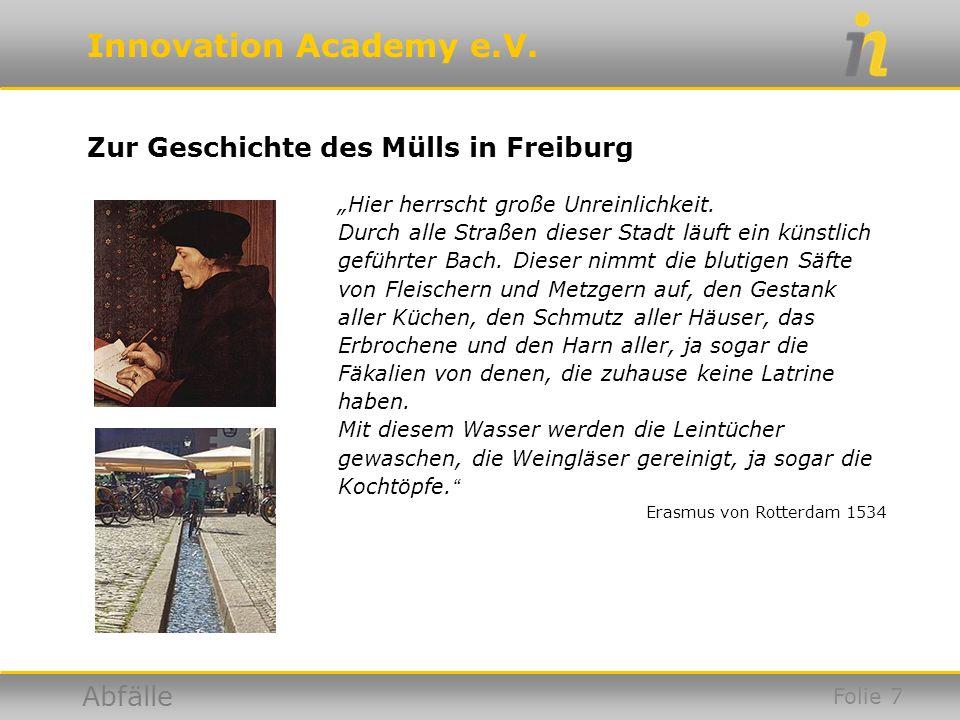 Zur Geschichte des Mülls in Freiburg