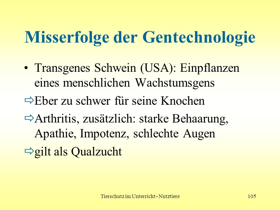 Misserfolge der Gentechnologie