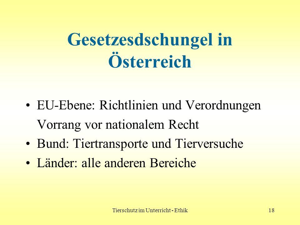 Gesetzesdschungel in Österreich