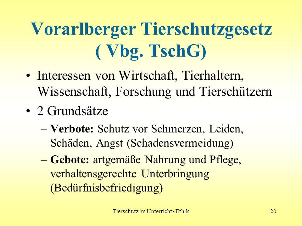 Vorarlberger Tierschutzgesetz ( Vbg. TschG)