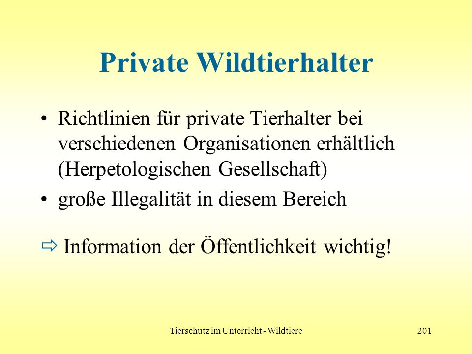 Private Wildtierhalter