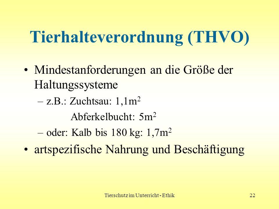 Tierhalteverordnung (THVO)