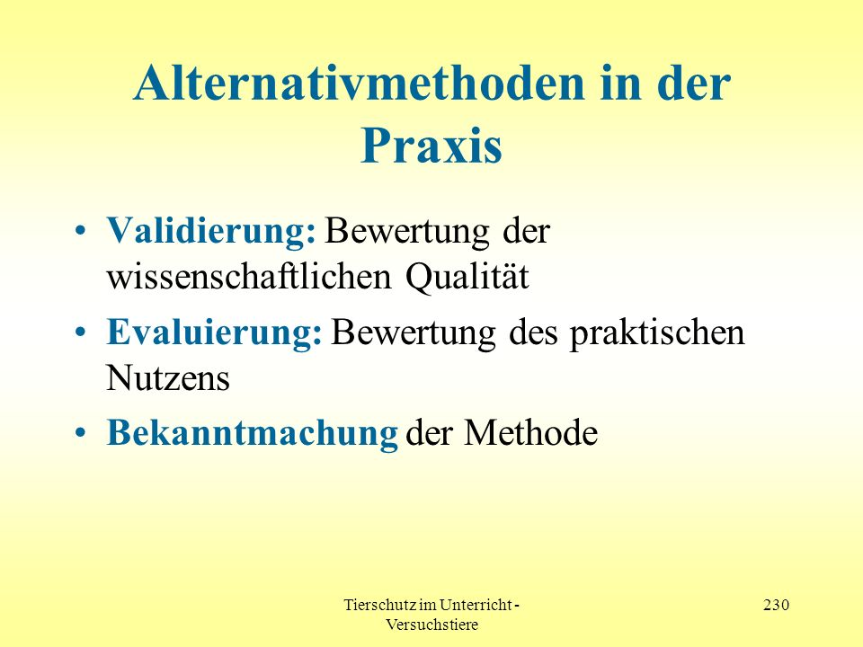 Alternativmethoden in der Praxis