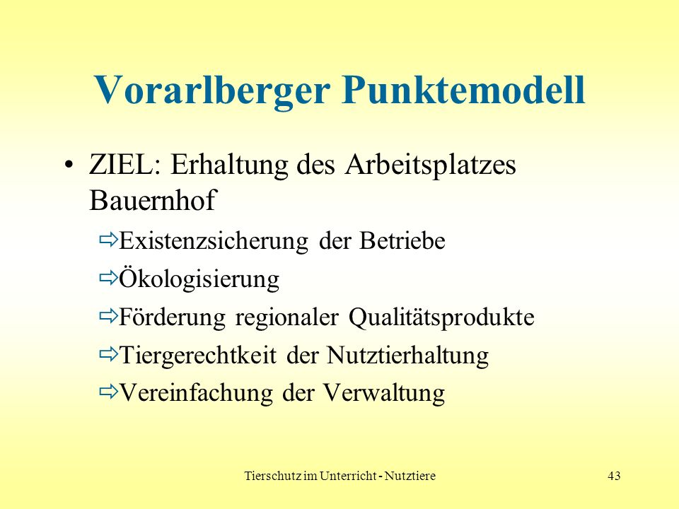 Vorarlberger Punktemodell