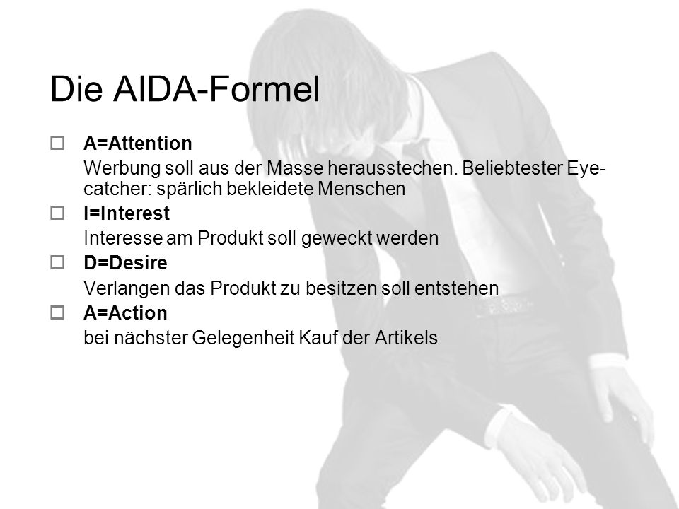 Die AIDA-Formel A=Attention