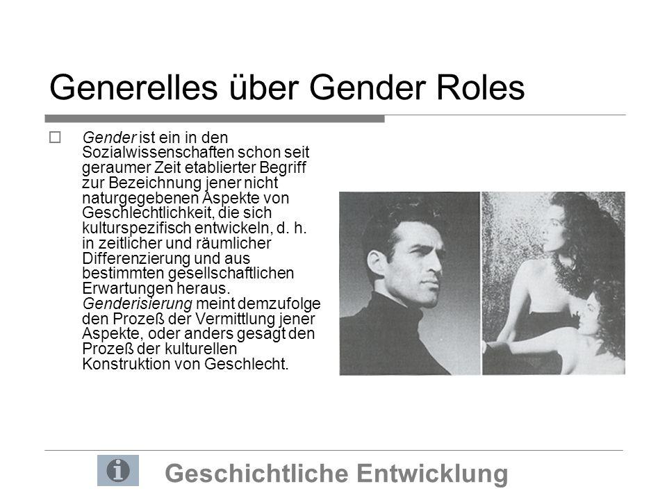 Generelles über Gender Roles