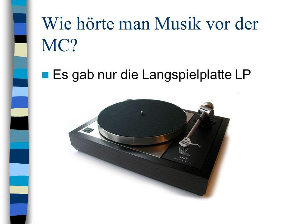 Wie hörte man Musik vor der MC