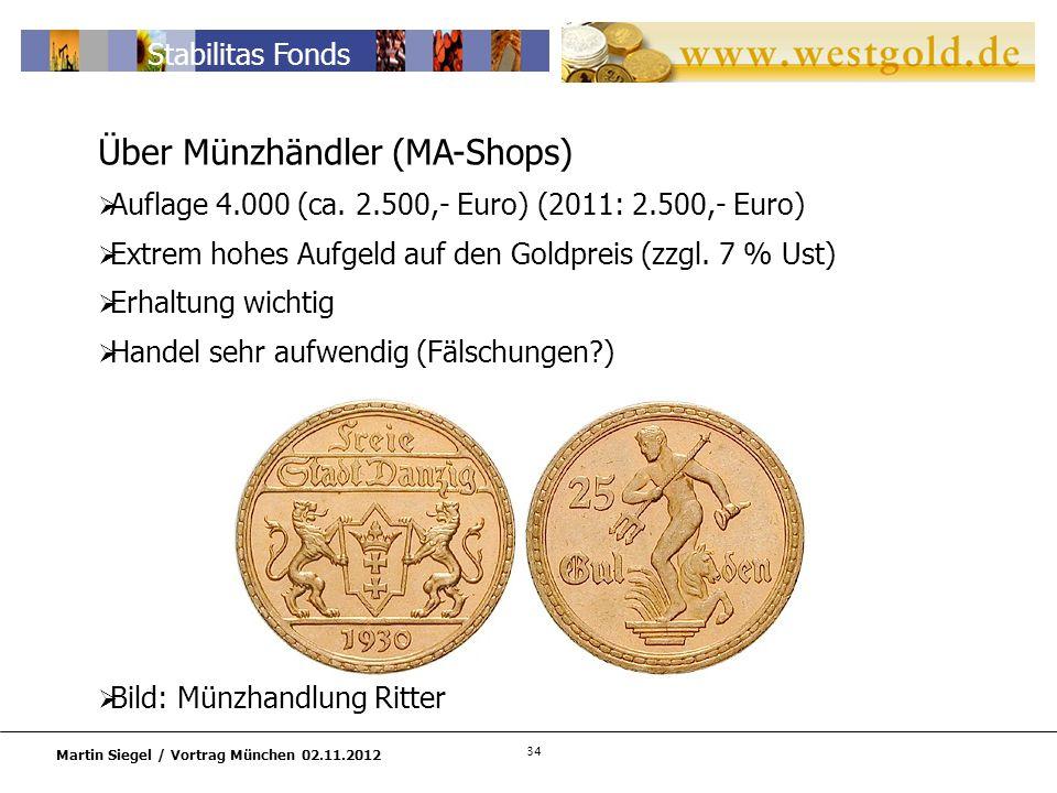 Über Münzhändler (MA-Shops)