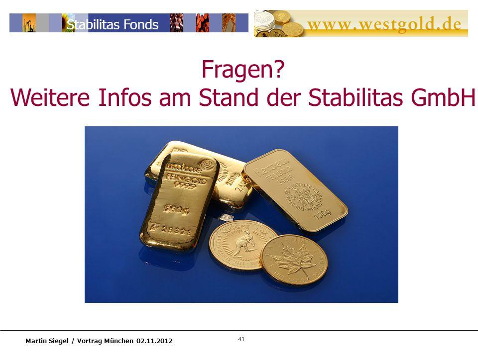 Weitere Infos am Stand der Stabilitas GmbH