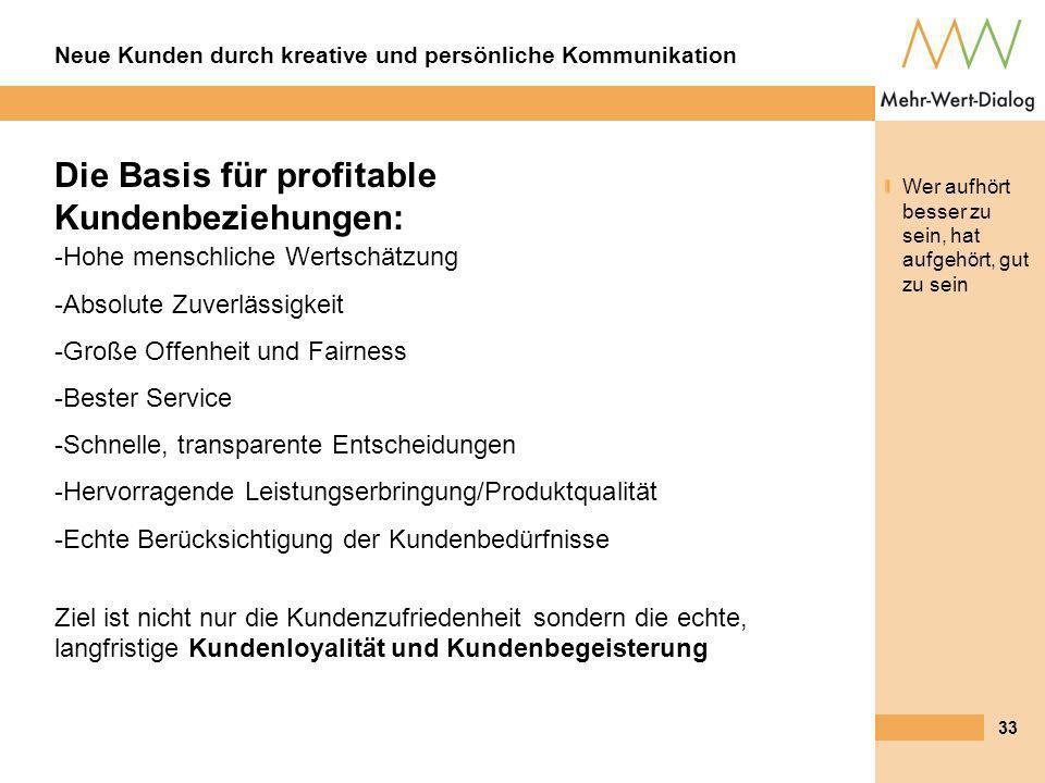 Die Basis für profitable Kundenbeziehungen: