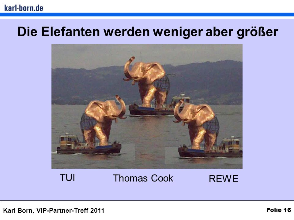 Die Elefanten werden weniger aber größer