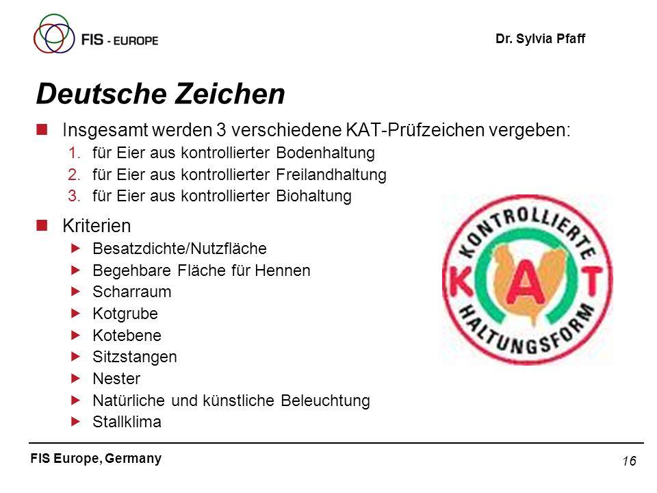 Deutsche ZeichenInsgesamt werden 3 verschiedene KAT-Prüfzeichen vergeben: für Eier aus kontrollierter Bodenhaltung.