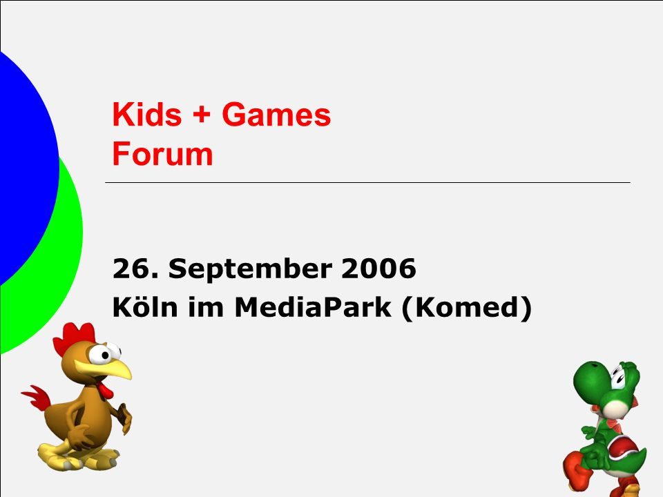 26. September 2006 Köln im MediaPark (Komed)