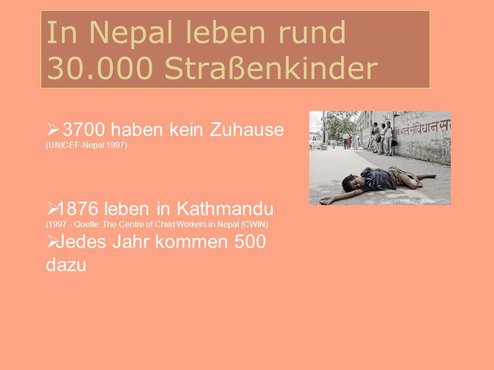 In Nepal leben rund 30.000 Straßenkinder