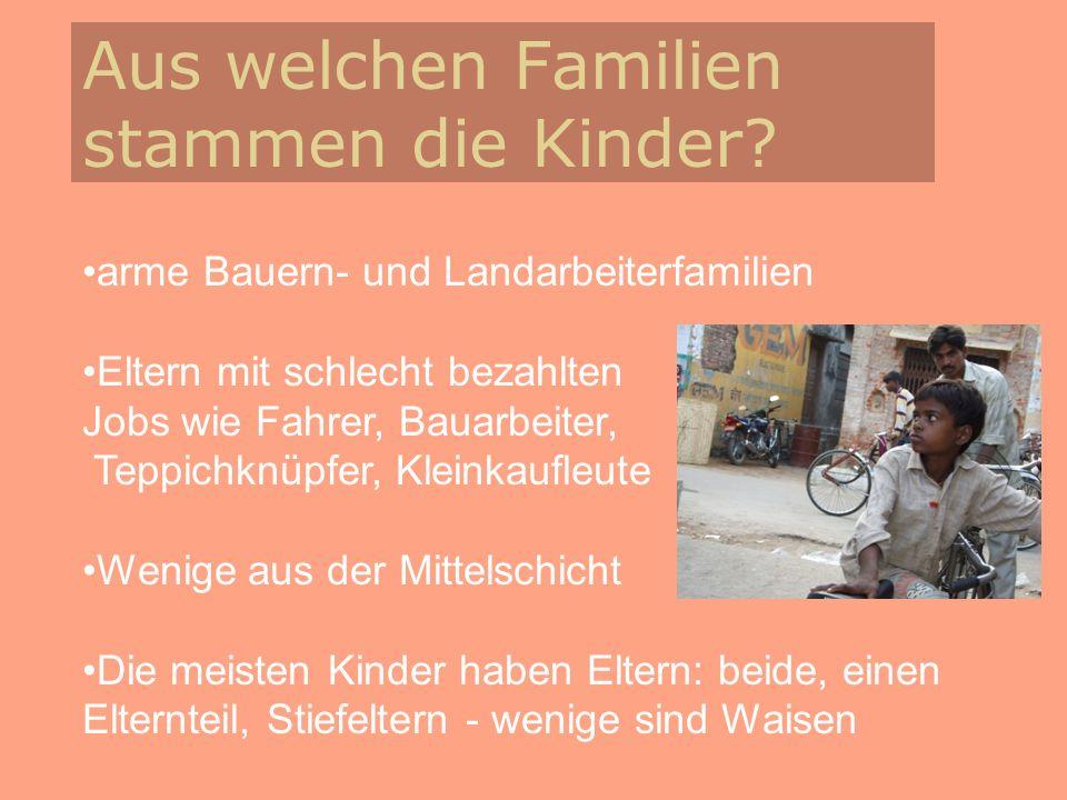 Aus welchen Familien stammen die Kinder