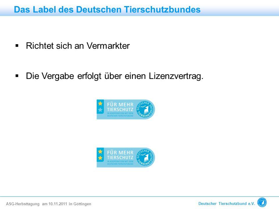 Das Label des Deutschen Tierschutzbundes