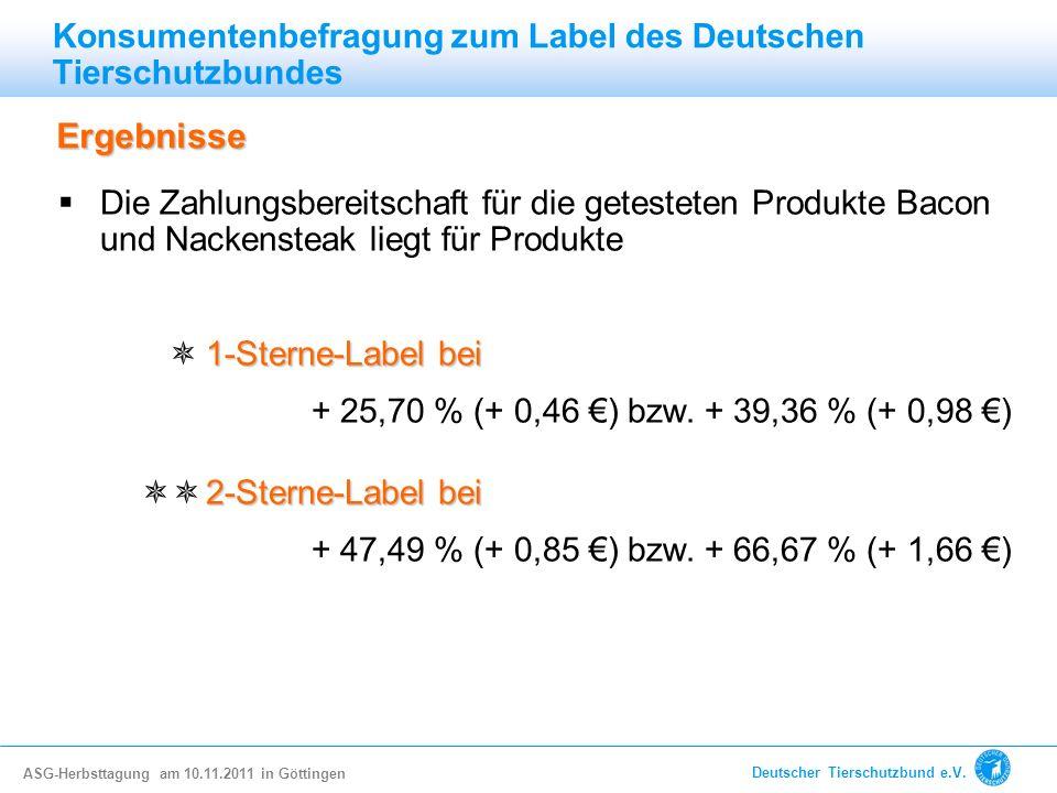 Konsumentenbefragung zum Label des Deutschen Tierschutzbundes