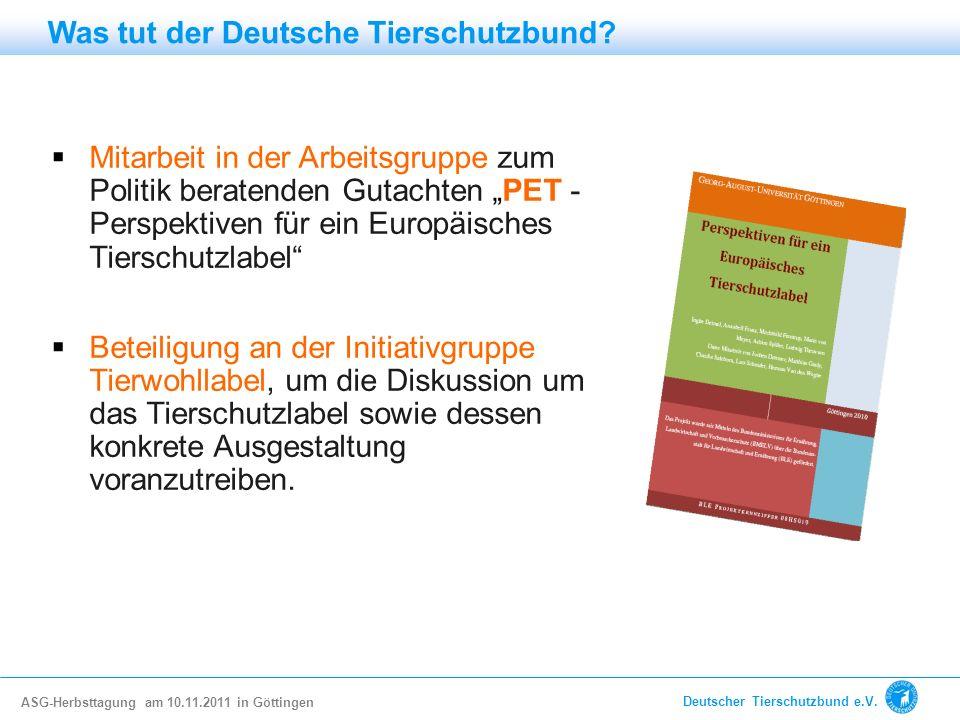 Was tut der Deutsche Tierschutzbund