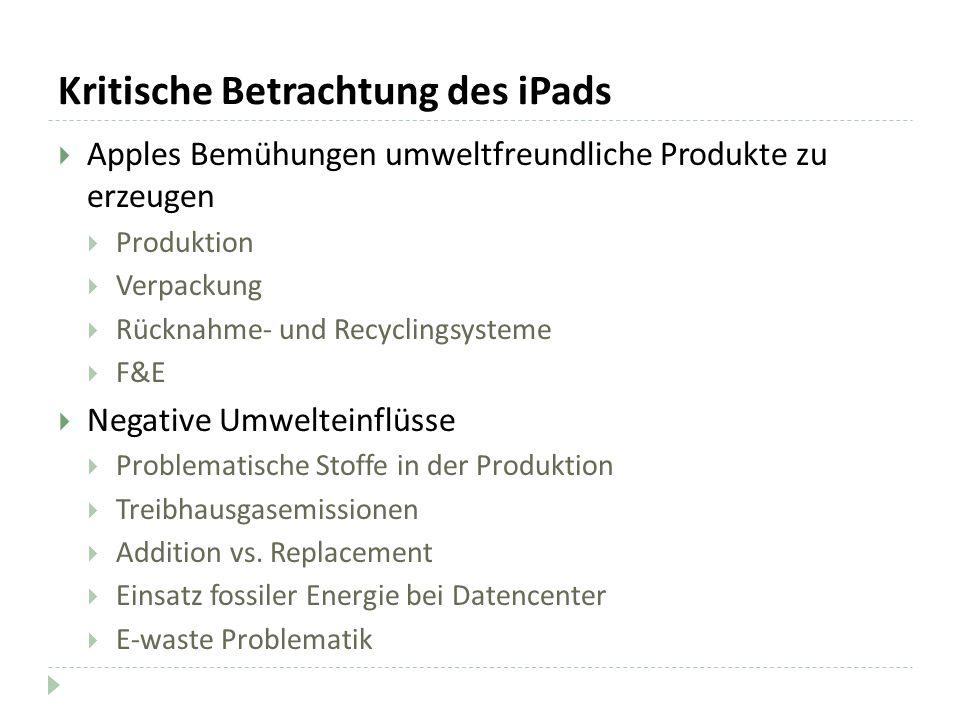 Kritische Betrachtung des iPads