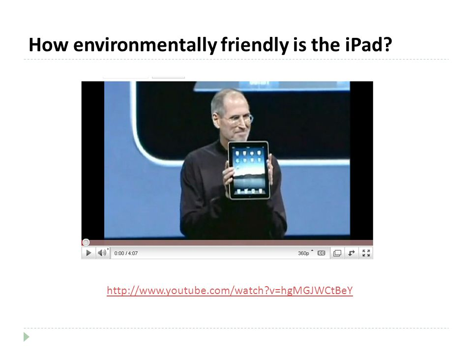 How environmentally friendly is the iPad