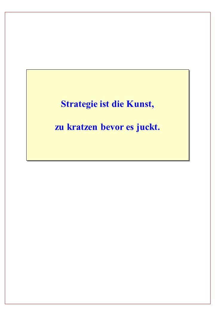 Strategie ist die Kunst, zu kratzen bevor es juckt.