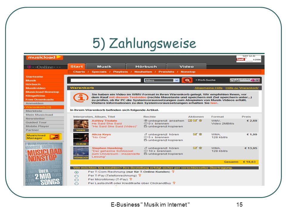 E-Business Musik im Internet