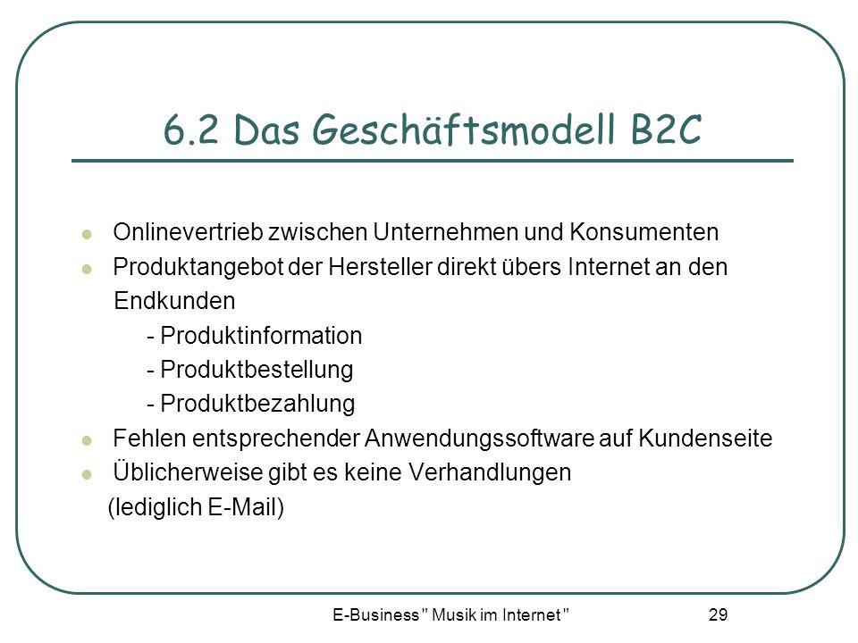 6.2 Das Geschäftsmodell B2C