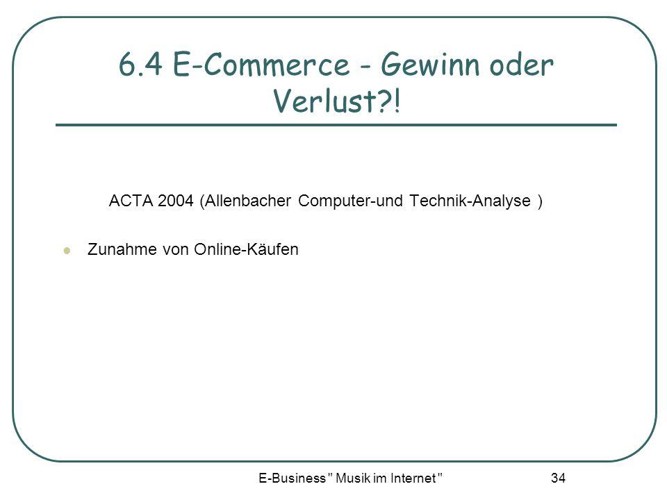 6.4 E-Commerce - Gewinn oder Verlust !