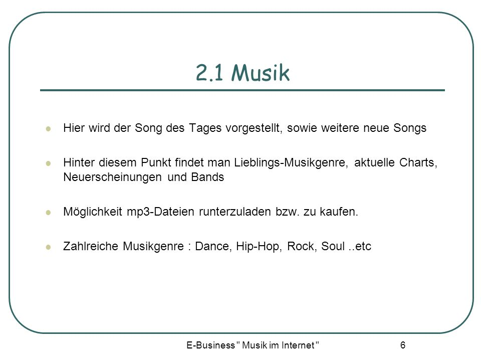 E-Business Musik im Internet
