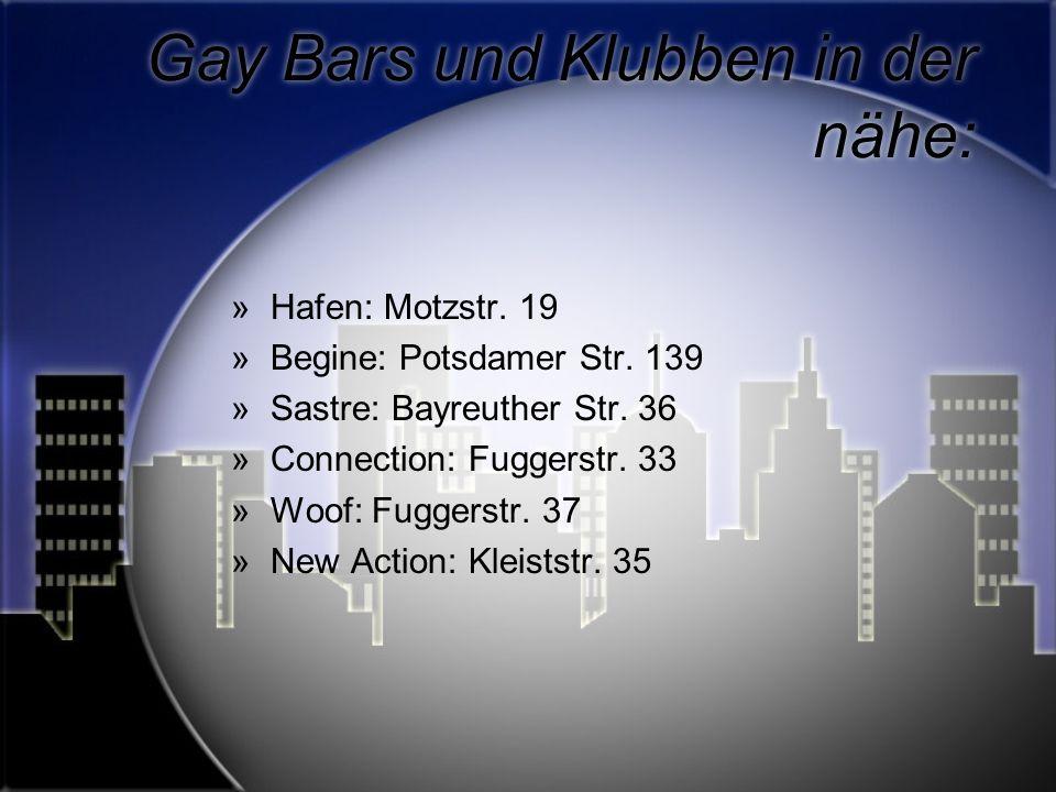 Gay Bars und Klubben in der nähe: