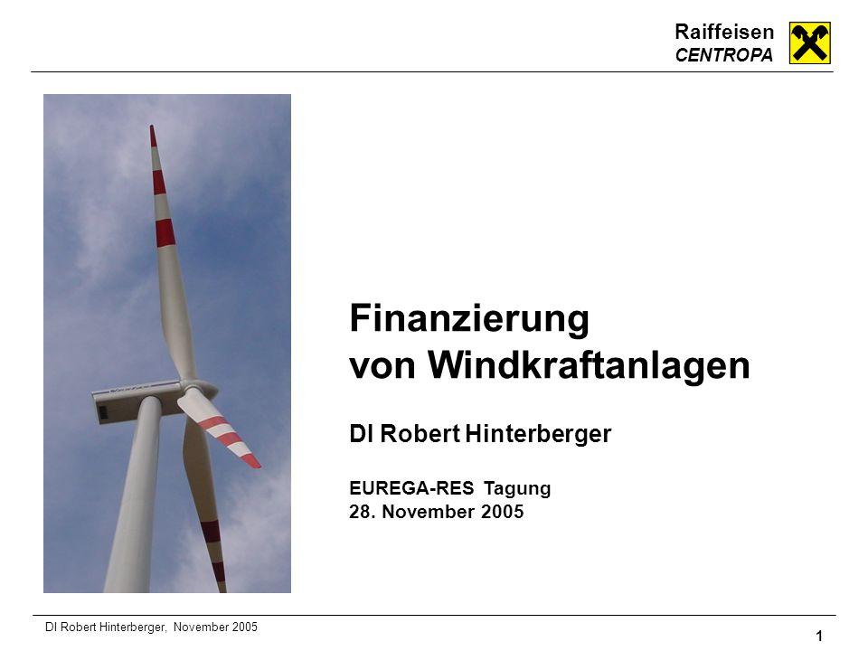 Finanzierung von Windkraftanlagen DI Robert Hinterberger