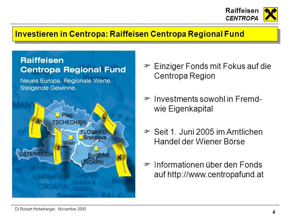 Investieren in Centropa: Raiffeisen Centropa Regional Fund