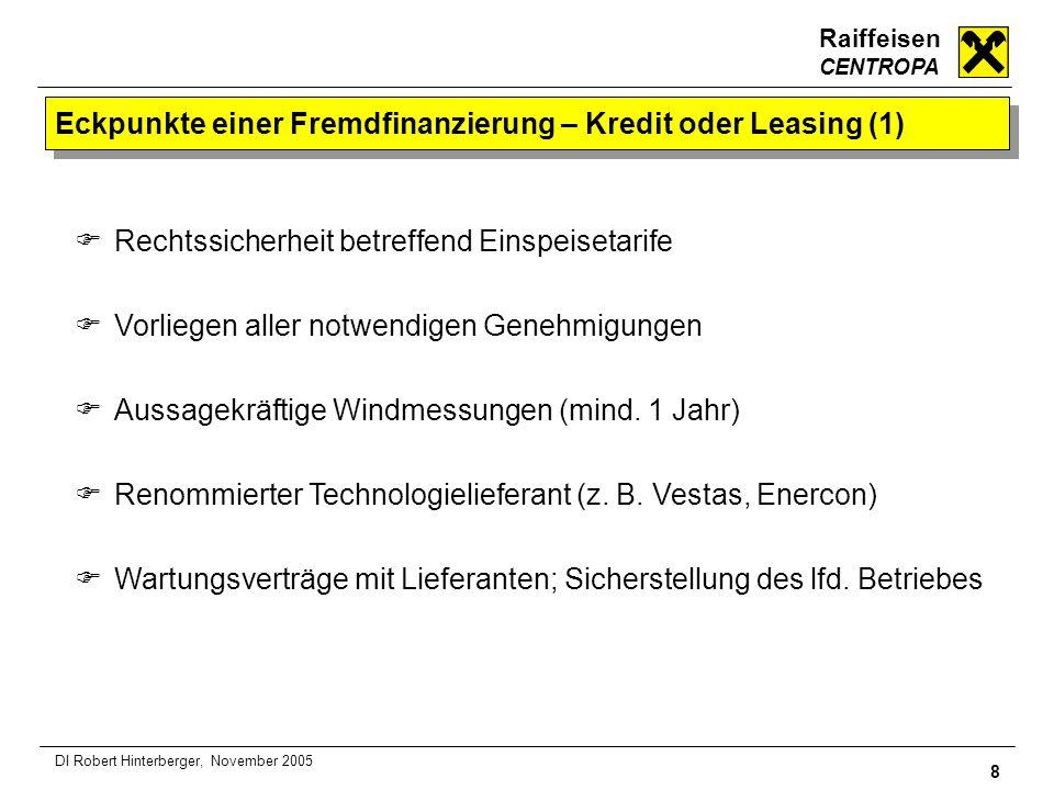 Eckpunkte einer Fremdfinanzierung – Kredit oder Leasing (1)