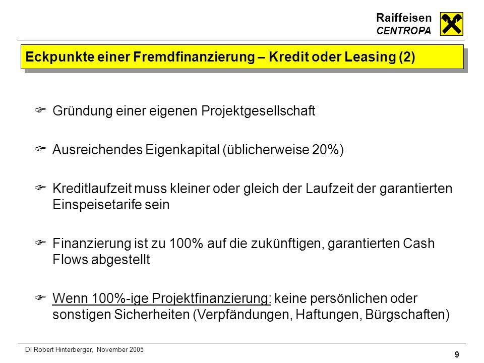 Eckpunkte einer Fremdfinanzierung – Kredit oder Leasing (2)