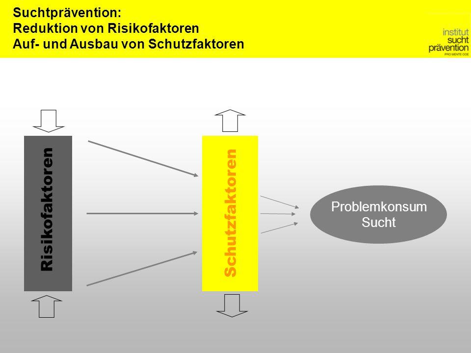 Risikofaktoren Schutzfaktoren Suchtprävention: