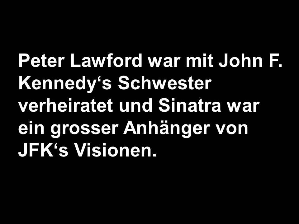 Peter Lawford war mit John F