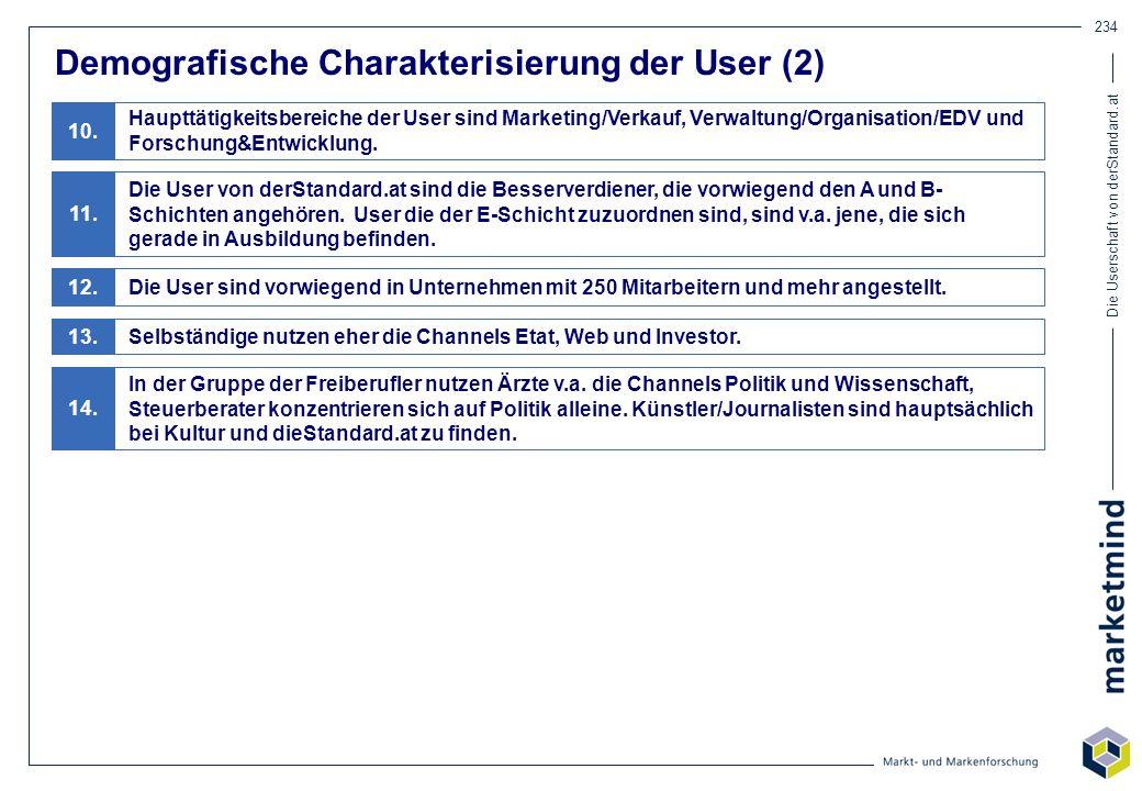 Demografische Charakterisierung der User (2)